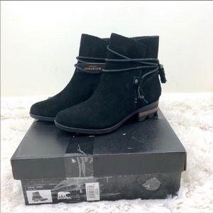 Sorel Farah Short Black Suede Booties Size 6